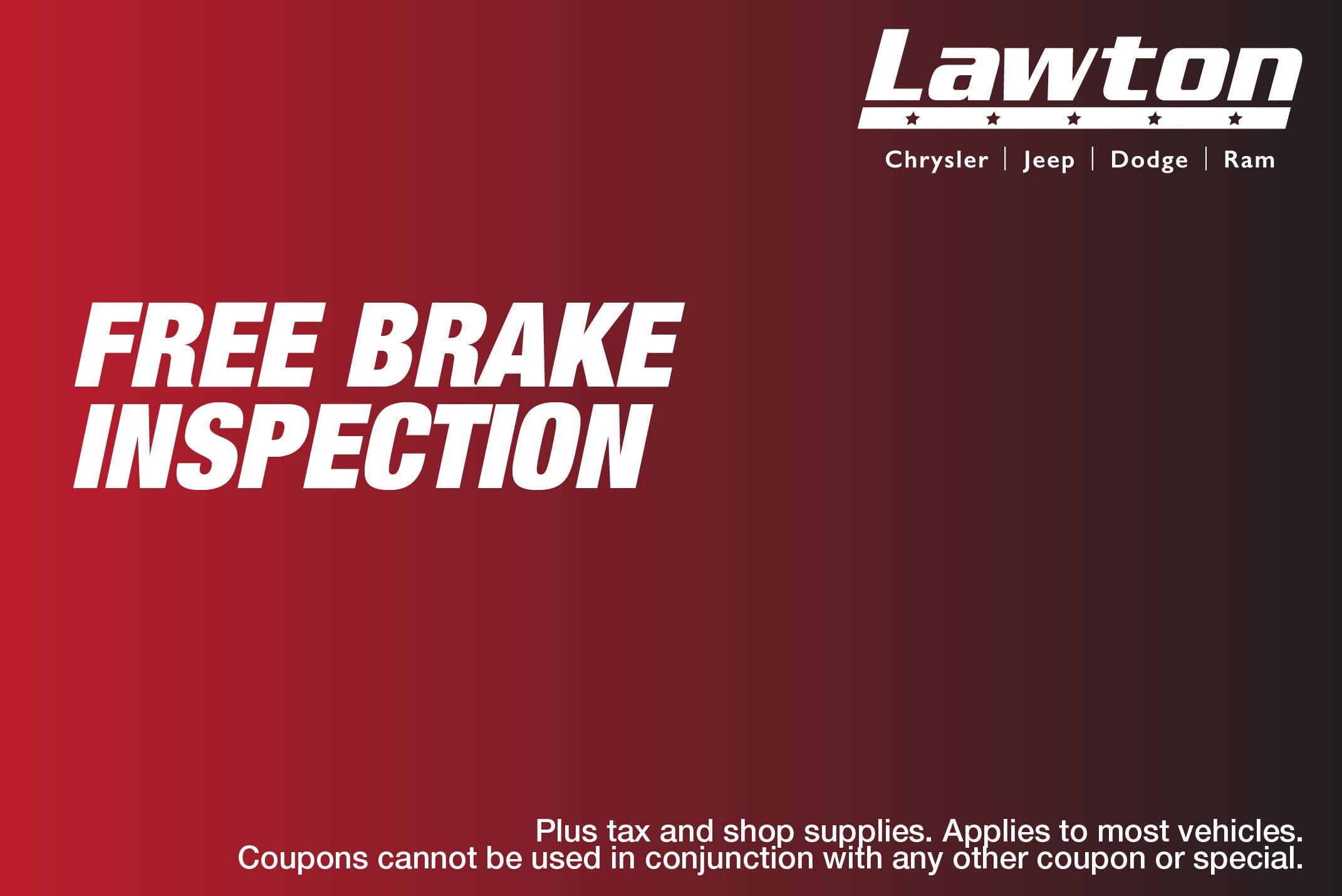 Free Brake Inspection Near Me >> Brake Inspection Lawton Chrysler Jeep Dodge Ram Specials Lawton Ok
